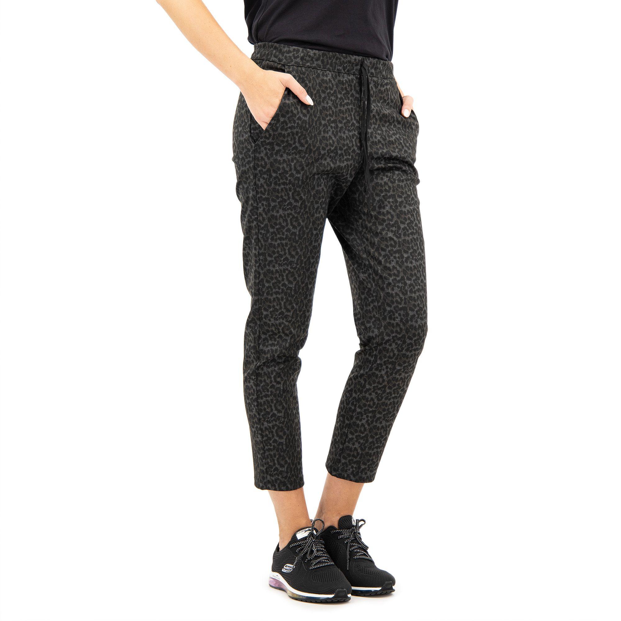 Image of Pantalone jogger in punto milano maculato