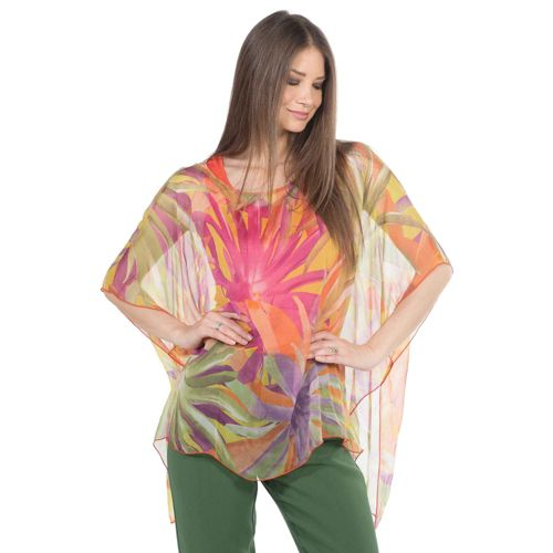 huge discount 575e2 5f250 ALANRED Set 2 pezzi fantasia: tunica in seta e canotta a spalla larga