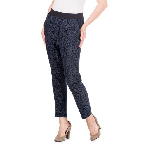 Dipinto di Blu Pantaloni made in Italy con pizzo - QVC Italia 6d630d14c79