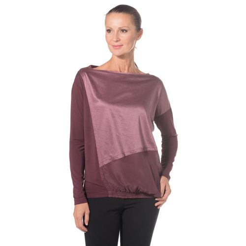 COLOUR LAB Blusa over made in Italy con scollo a barca 08593ff8caf