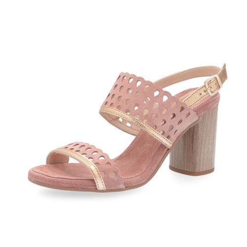 Manas E 8cm Sandalo Pelle In Traforato Con Tacco Motivo KTc5Jl3uF1