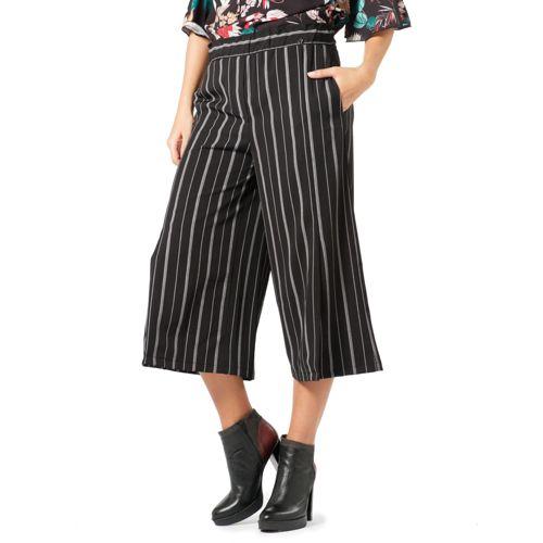 più amato 6ca92 e5901 Officina della Moda Pantaloni modello gaucho in cady con spacchi sul davanti