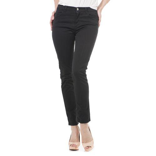 e63b99fe4d4436 Ambra Jeans Pantaloni 5 tasche in drill di cotone e rivetti con strass -  QVC Italia