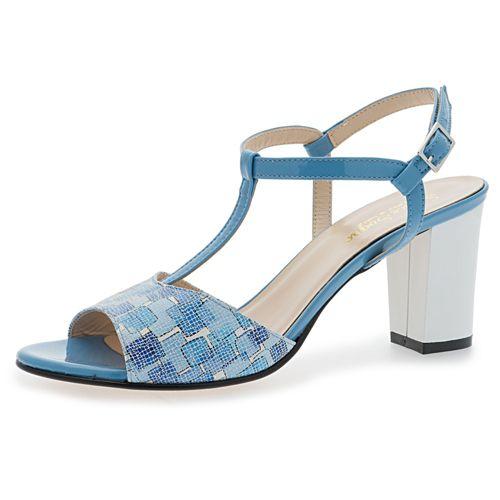 Sandalo made in Italy in velluto, tacco 5.5cm qvc-moda grigio Velluto