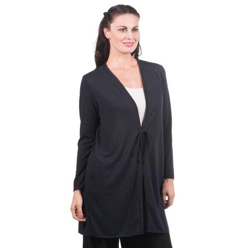 Bianca Della Torre Cardigan lungo in maglia made in Italy - QVC Italia a1539413564