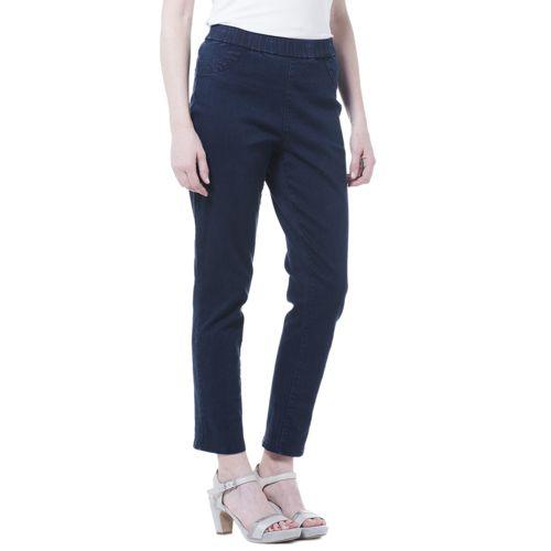 metà fuori 15b75 f948b C. Wonder Jeans stretch alla caviglia con elastico in vita