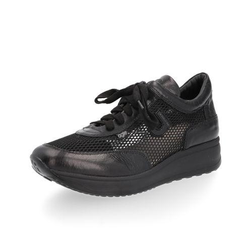 Sneaker in rete metallizzata con inserti laminati qvc-moda neri Pelle YqJDTp0