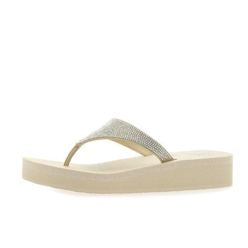 SKECHERS Infradito con decoro gioiello e soletta Yoga Foam