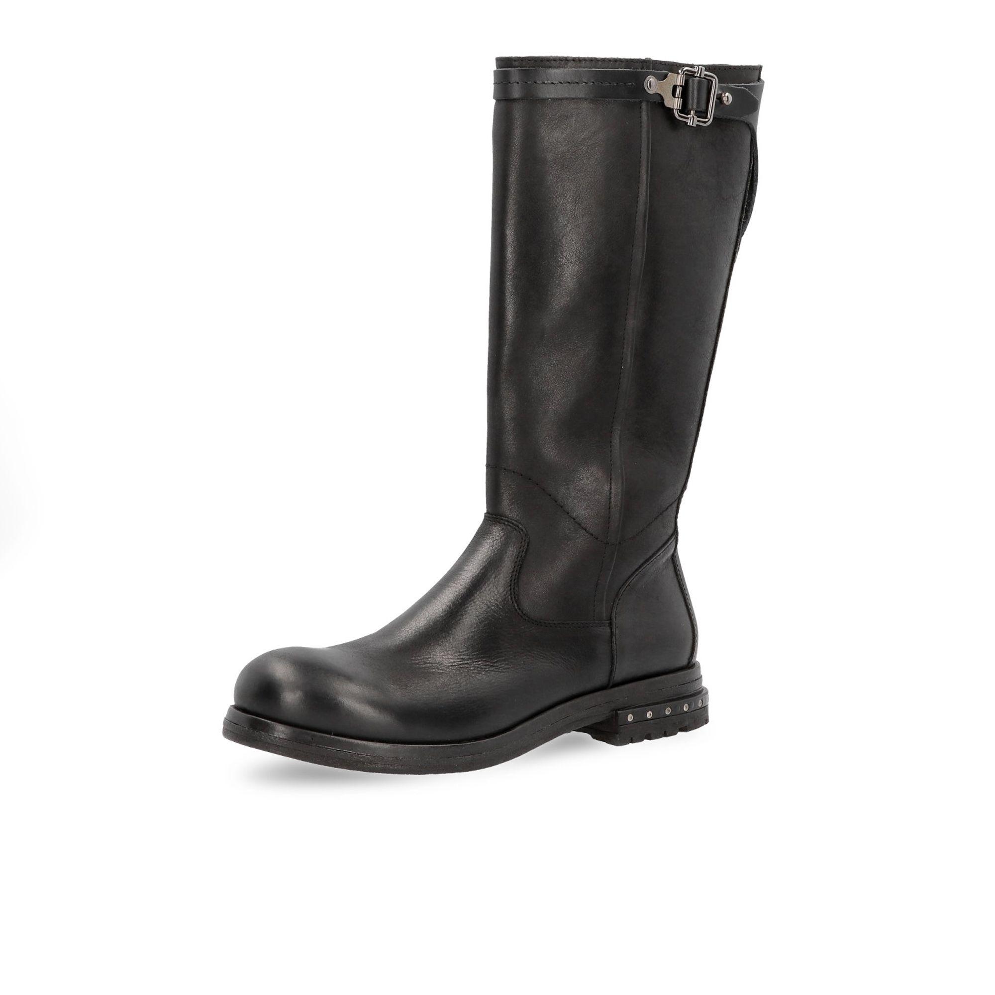 Khriò Stivali in pelle con zip laterale e tacco 3cm con borchie - QVC Italia fda52f8686a
