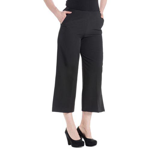 SottoMarino Pantaloni gaucho in tessuto bi-stretch con spacchi laterali -  QVC Italia 93e526108cd