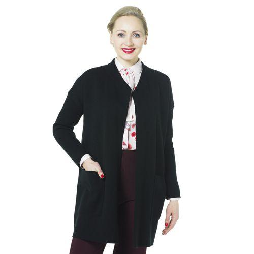 0d144b4c552d3a Nina Leonard Coatigan in maglia punto tessuto con tasche - QVC Italia
