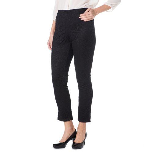 San Francisco 62fa3 23689 Nina Leonard Pantaloni in pizzo con elastico in vita