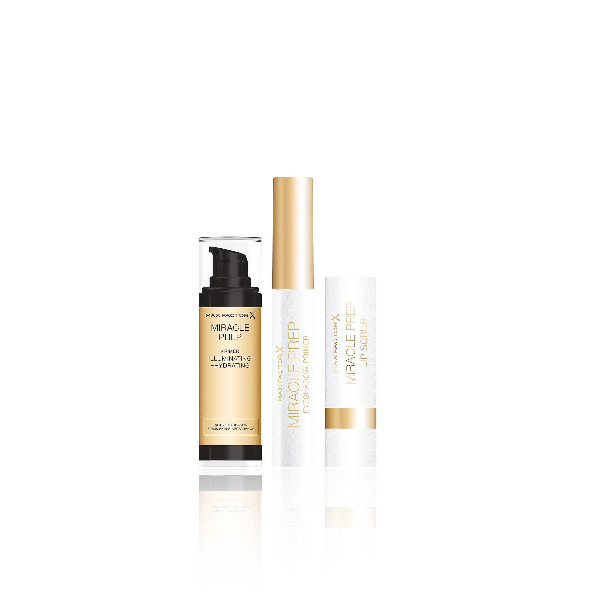 Image of Kit make-up: primer viso, primer occhi, scrub labbra