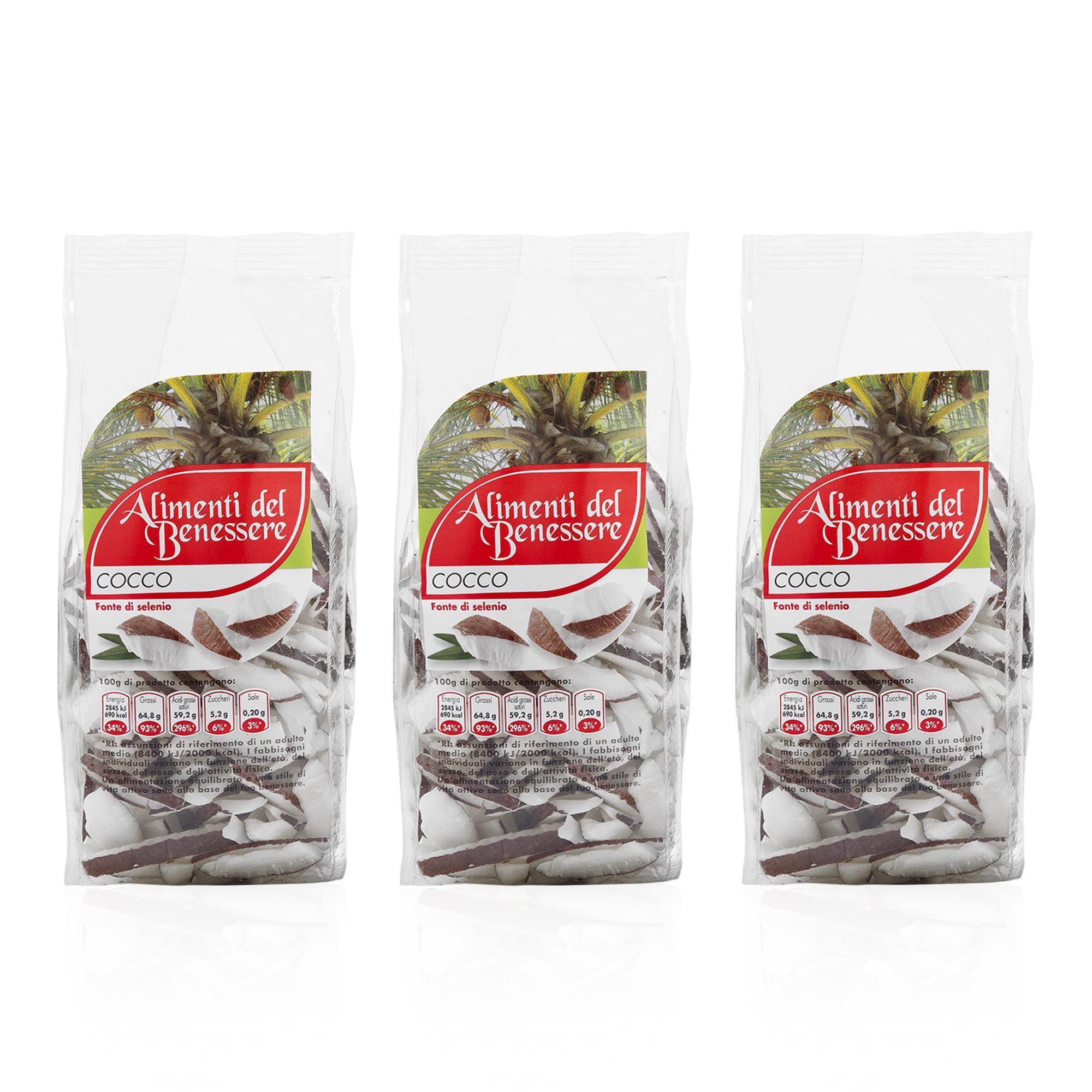 Gli Alimenti Del Benessere Cocco Naturale Essiccato 3 X 250g Qvc Italia