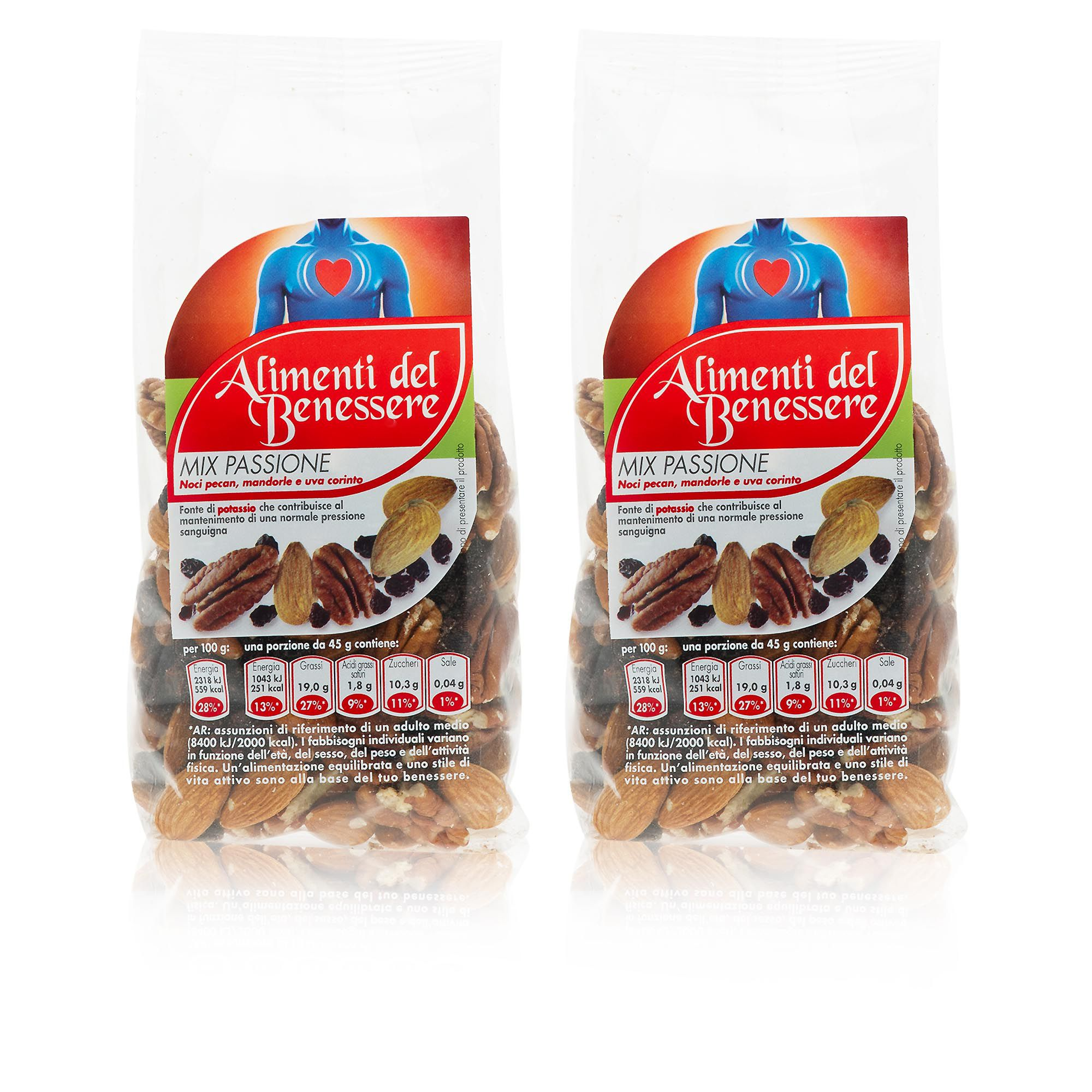 Gli Alimenti Del Benessere Duo Mix Passione Con Noci Pecan Mandorle E Uva Di Corinto Qvc Italia
