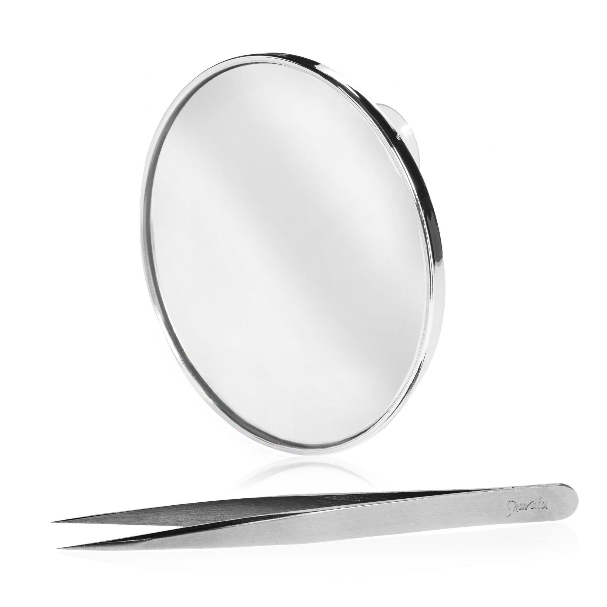 Shavata kit pinzetta di precisione e specchio ad - Specchio ingrandimento ...