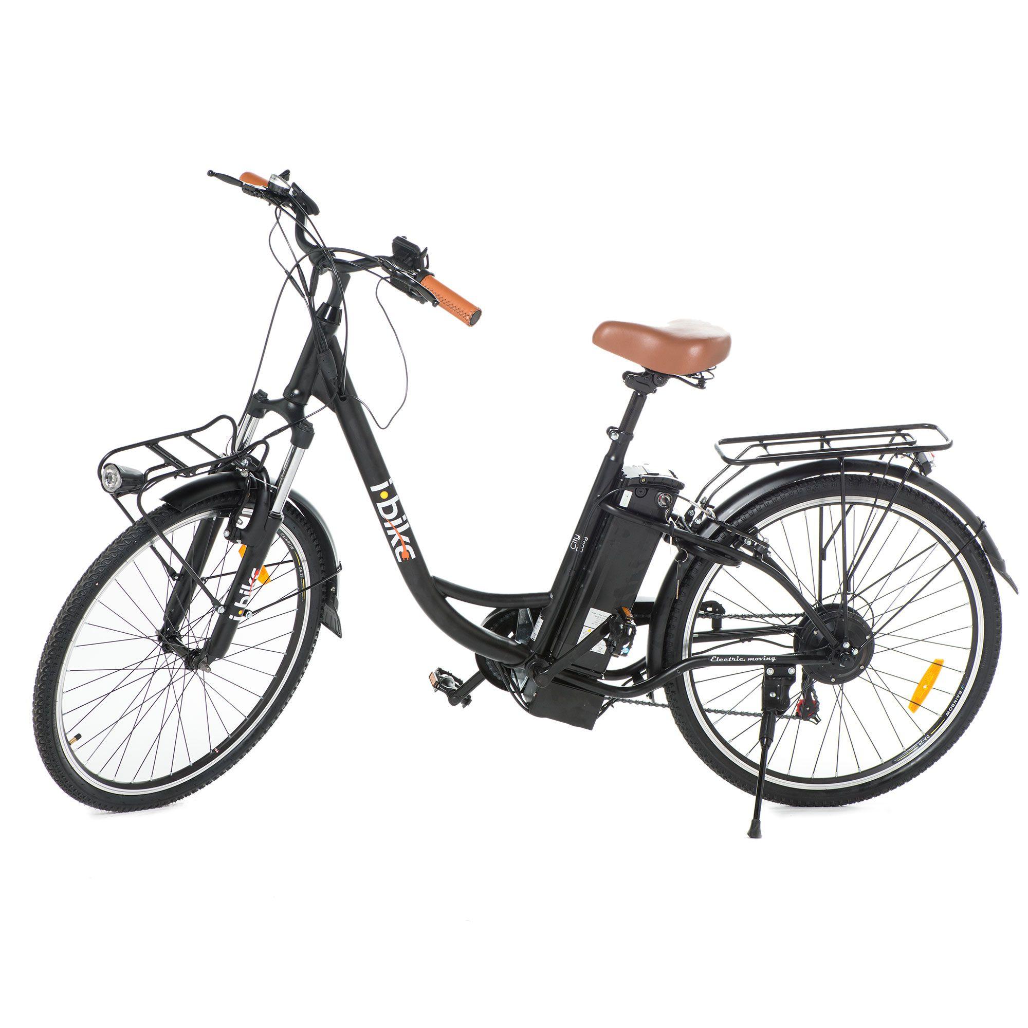 I-Bike Bici elettrica pedalata assistita autonomia 40km ...