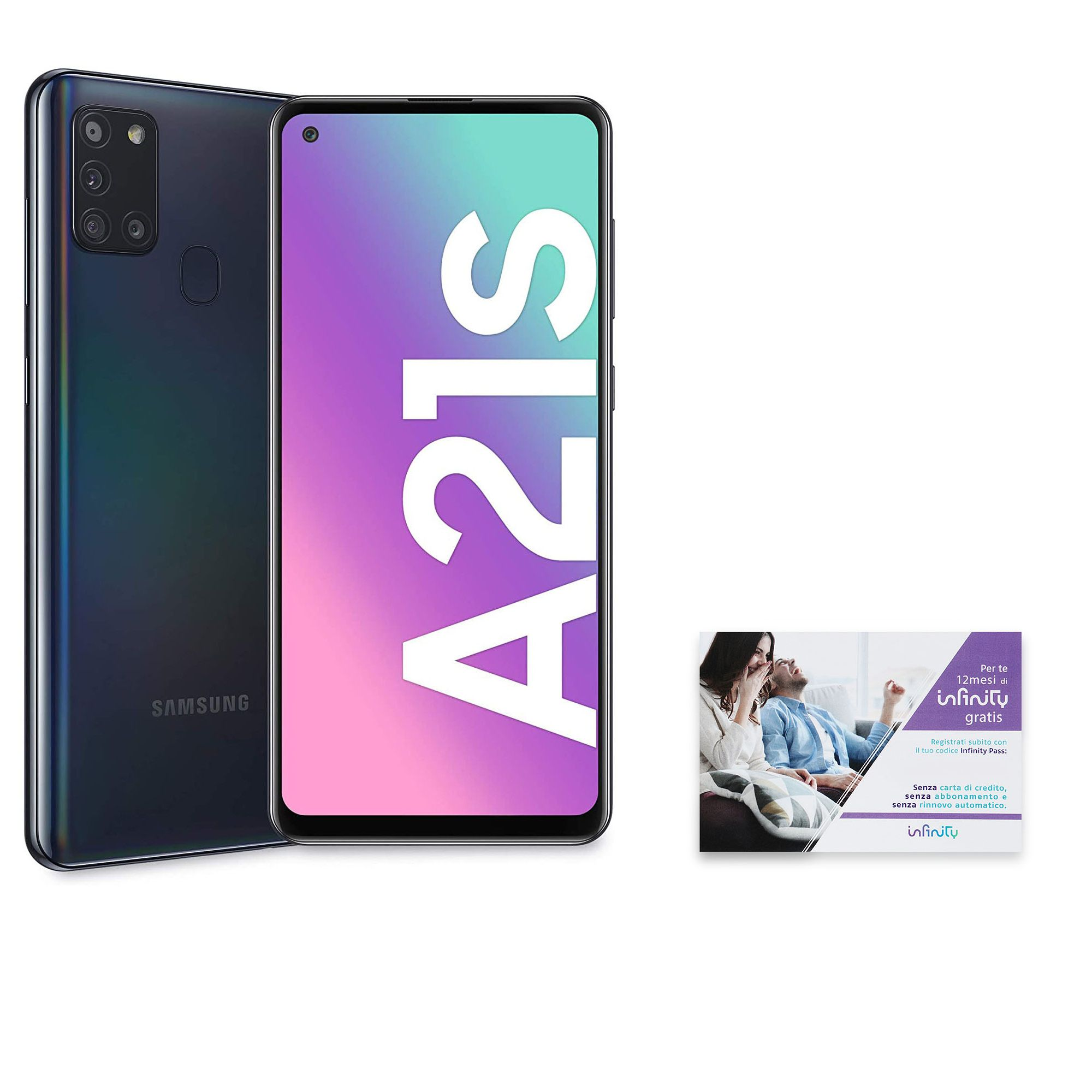 Image of A21S Smartphone 4G LTE 128GB + 12 mesi Infinity