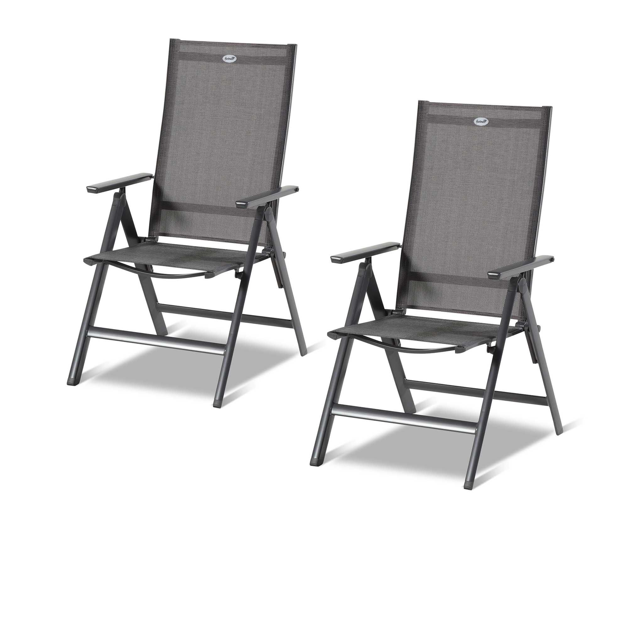 Hartman 2 sedie pieghevoli in alluminio con schienale for Sedie alluminio