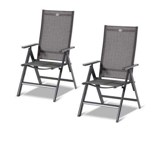 Hartman 2 sedie pieghevoli in alluminio con schienale for Sedie in alluminio