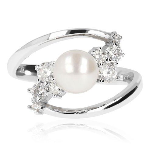 disponibile ultimo di vendita caldo arriva Perlaviva Anello contrarié in argento con perla coltivata
