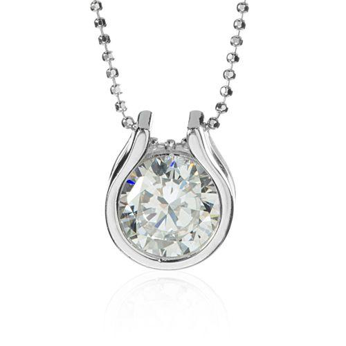 nuovo stile 6e507 c01ce Diamonique Collana pari a 2.00ct in argento 925 con pendente solitario