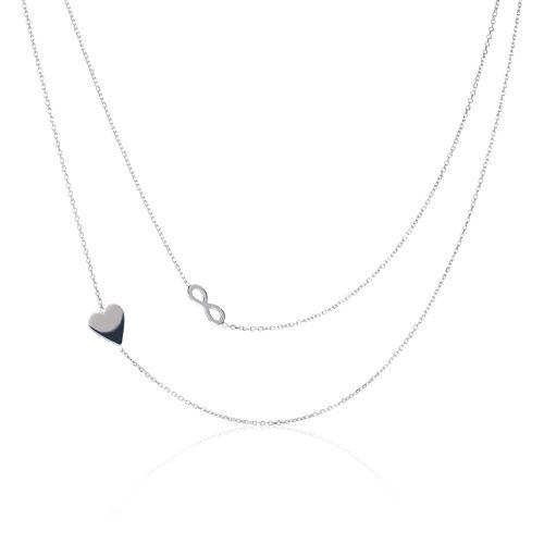 migliore arrivo l'ultimo Bianca Set 2 collane in argento 925 placcato platino - QVC Italia