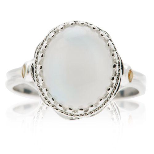 moonstone anello ovale in argento 925 con pietra di luna e citrini qvc italia. Black Bedroom Furniture Sets. Home Design Ideas