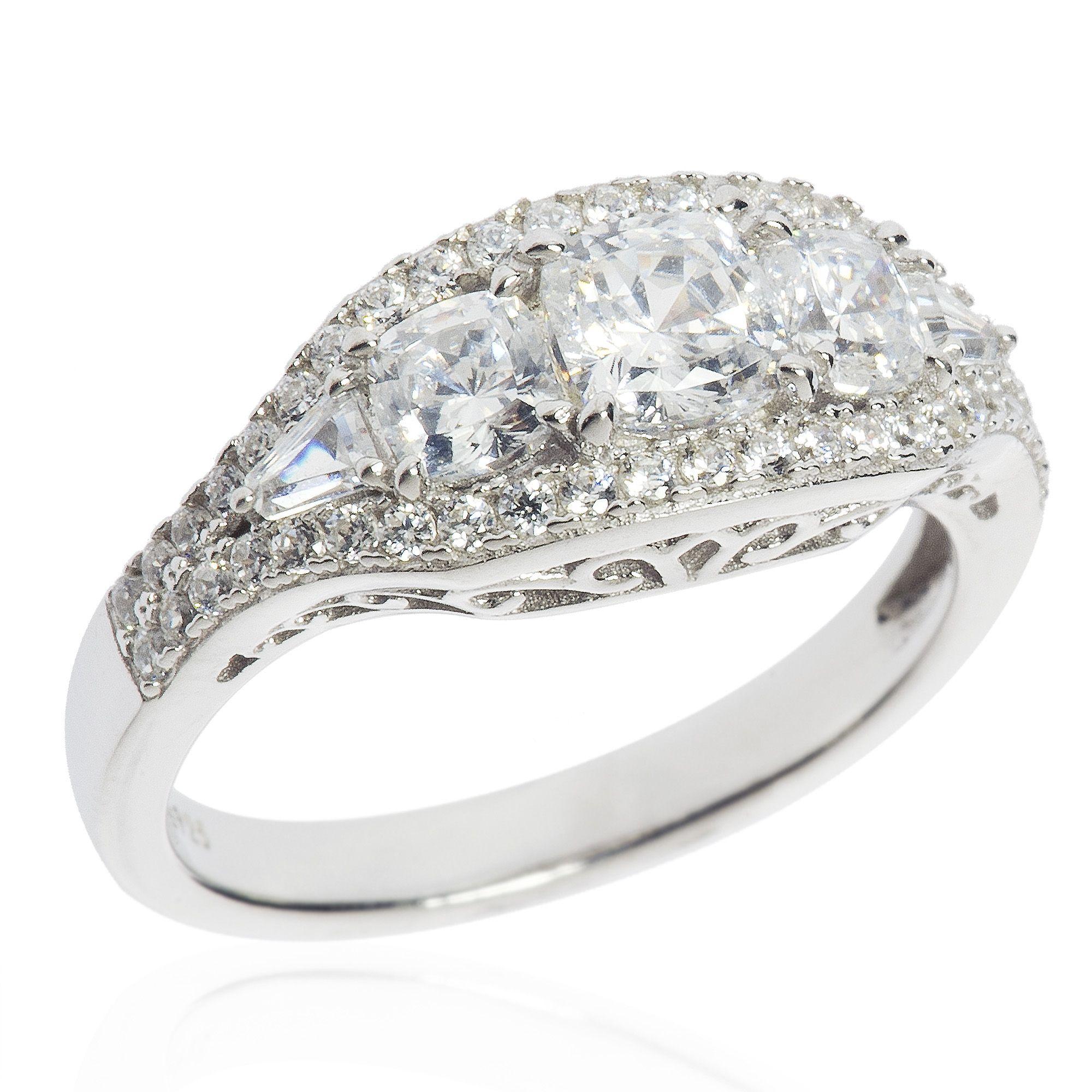 Diamonique 100 anello a fascia pari a in argento 925 qvc italia - Qvc marchi cucina ...