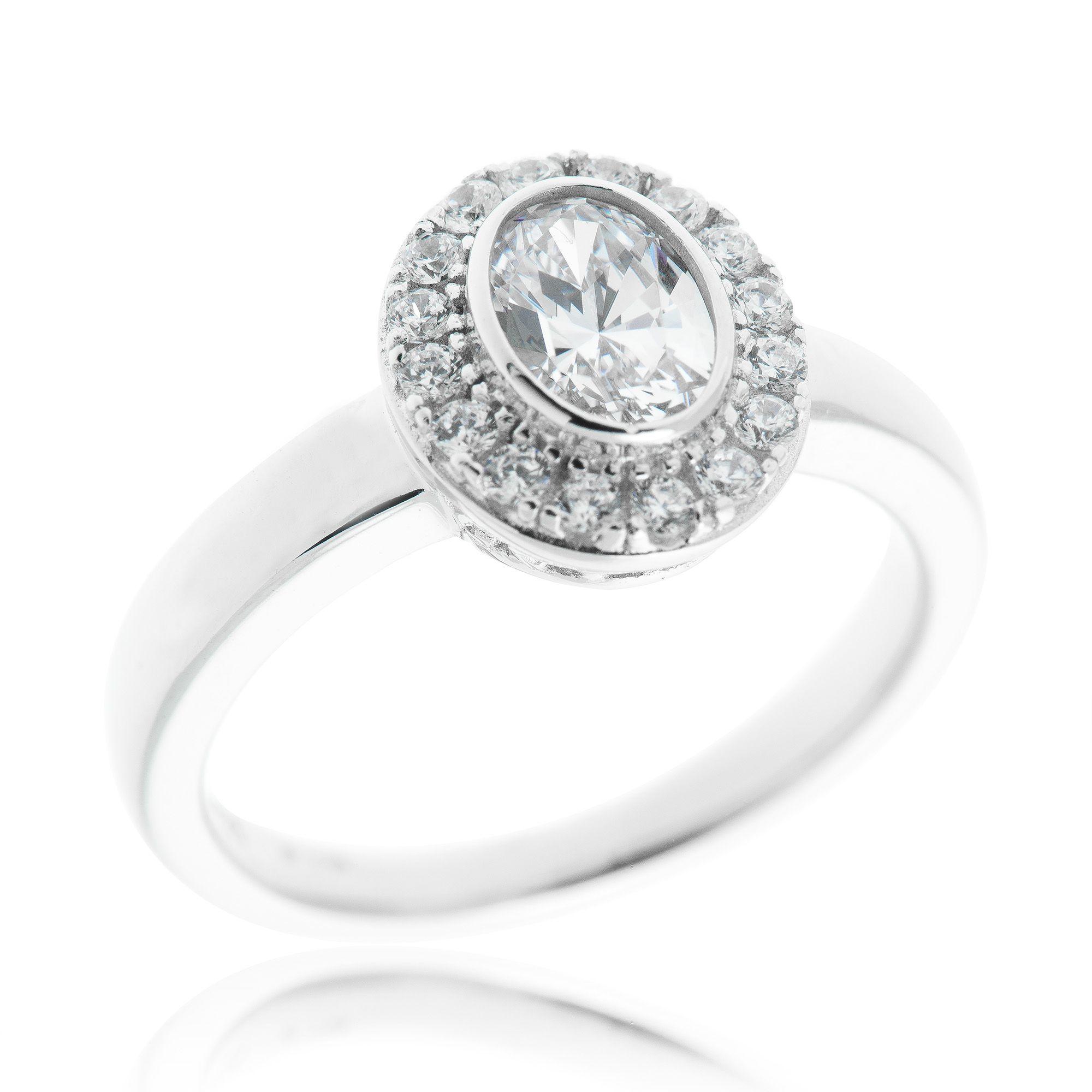 Diamonique anello pari a in argento 925 placcato platino qvc italia - Qvc marchi cucina ...