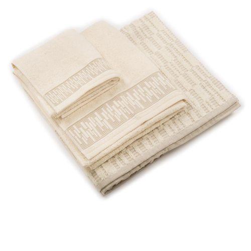daaa3068b3 COGAL Set 3 asciugamani jacquard, viso, ospite e telo doccia - QVC Italia