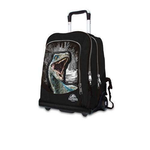 rivenditore di vendita 43859 5e976 Jurassic World Zaino trolley nero a 3 scomparti