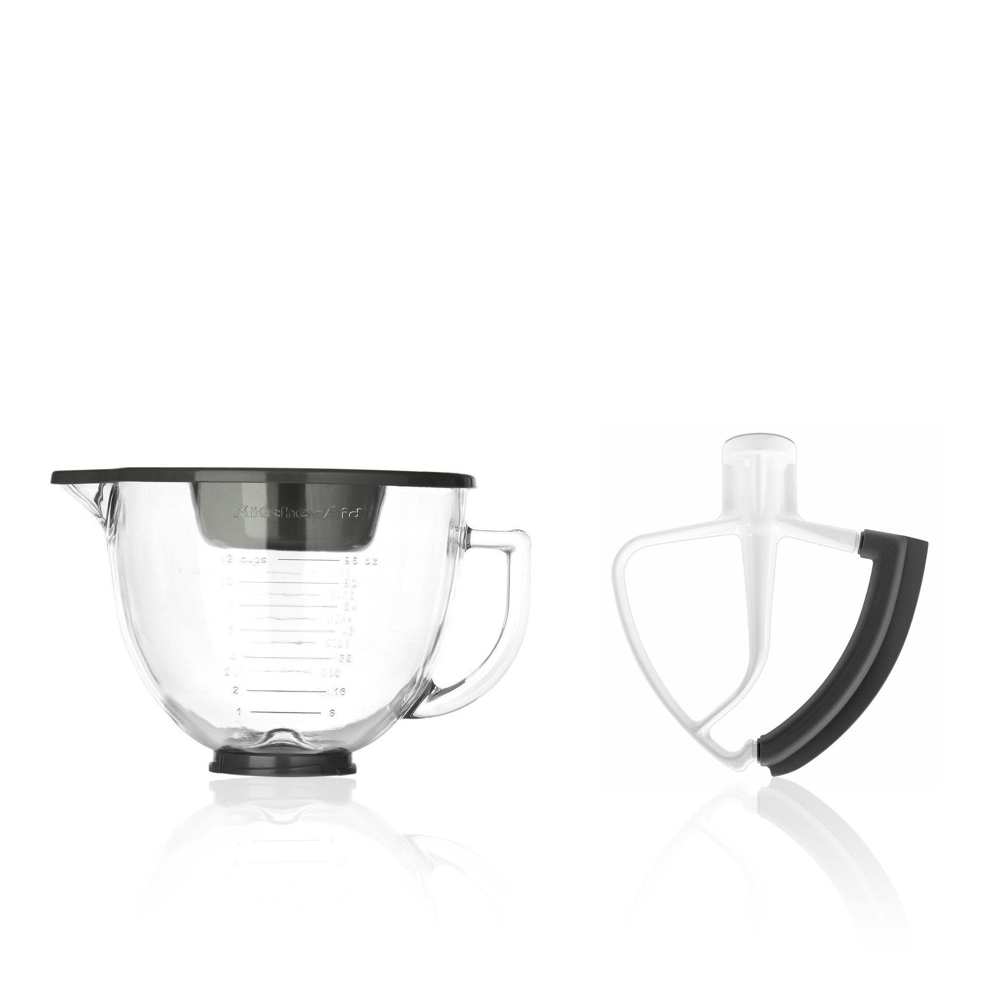 Set 2 accessori per impastatrice: ciotola e frusta piatta
