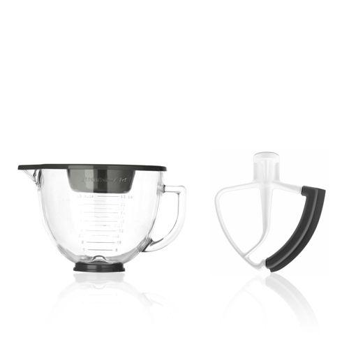 KitchenAid Set 2 accessori per impastatrice: ciotola e frusta piatta ...