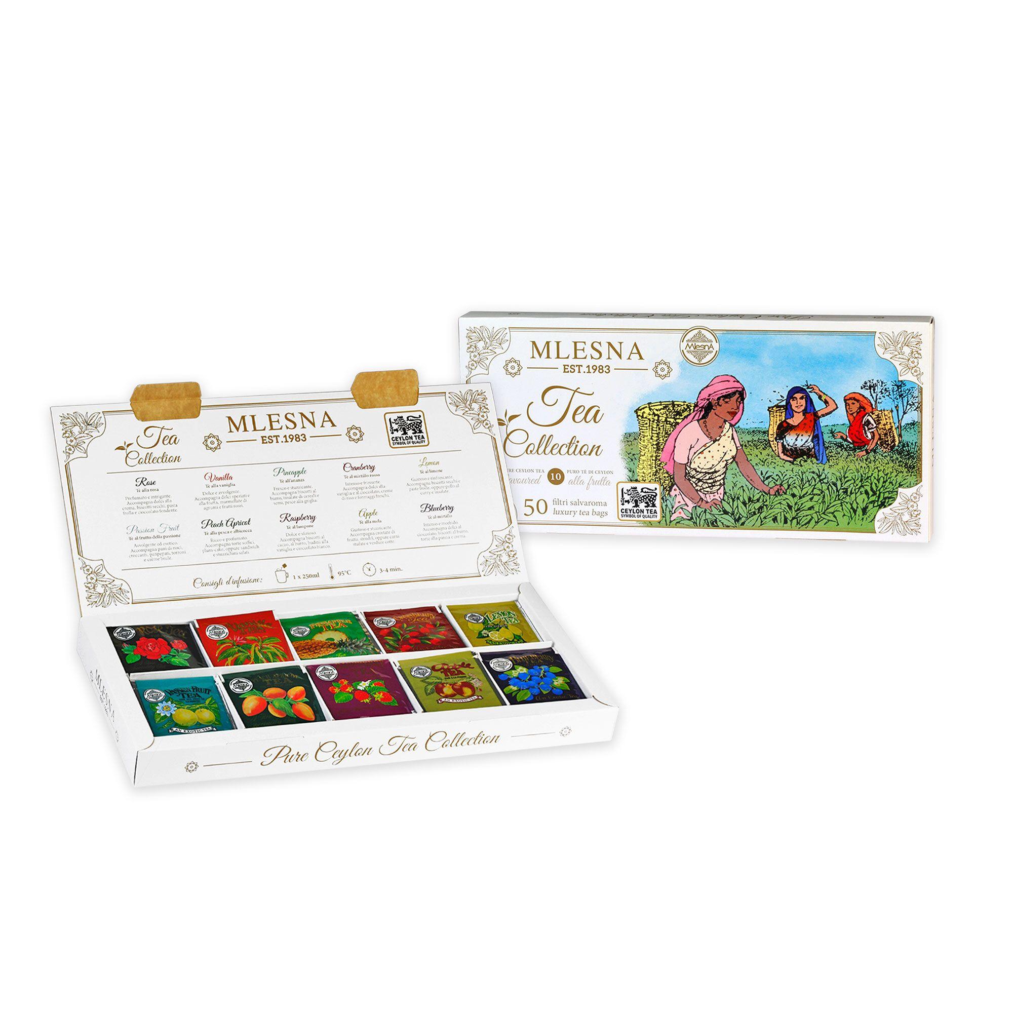 Tea Box con 50 filtri di tè fruttati