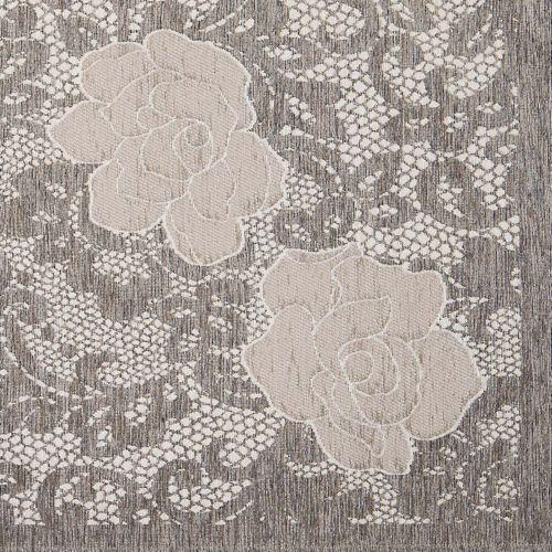 By Suardi Tappeto in ciniglia Astrid con motivo a rosa ...