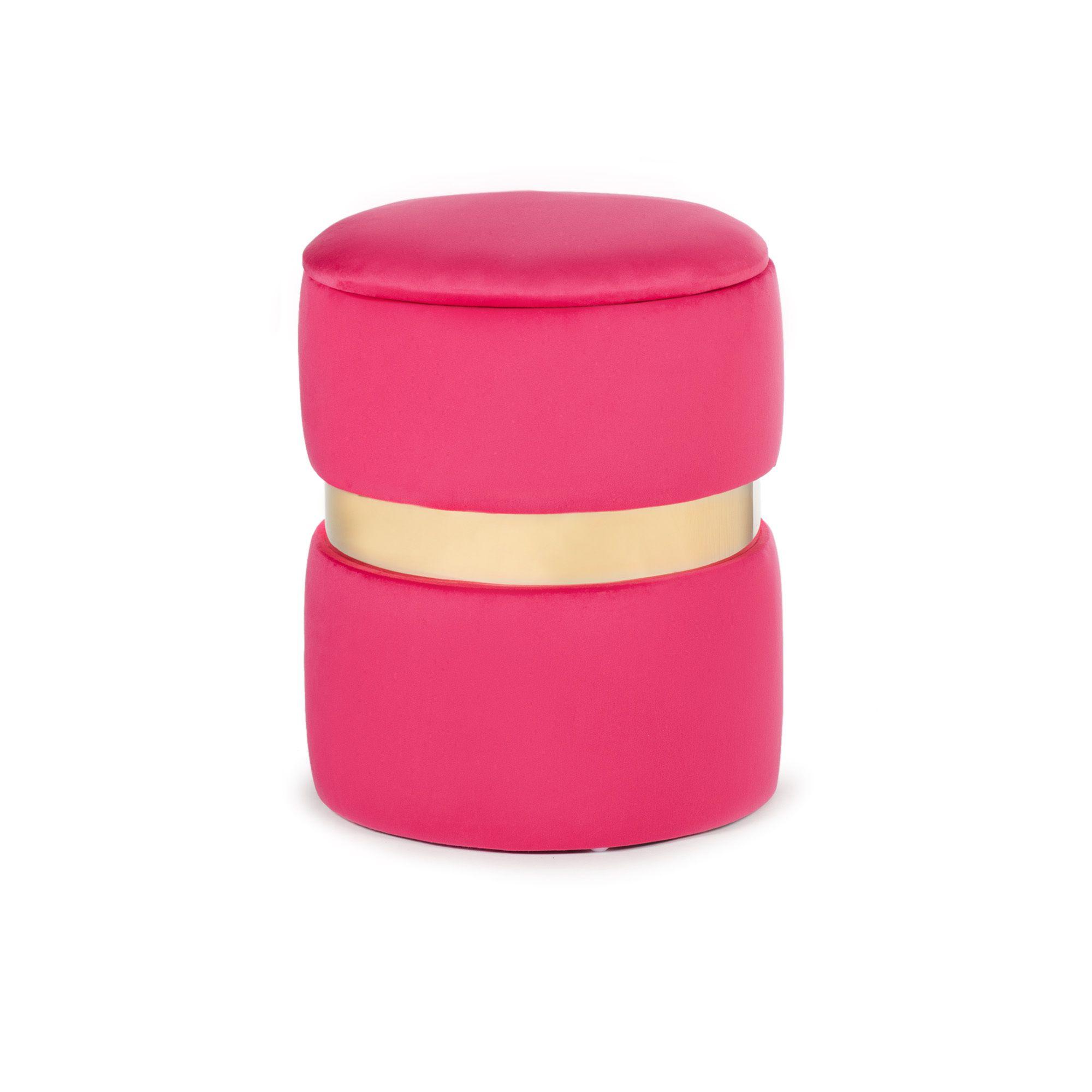Pouf In Cotone Effetto Maglia home reflections pouf contenitore in velluto rosso - qvc italia