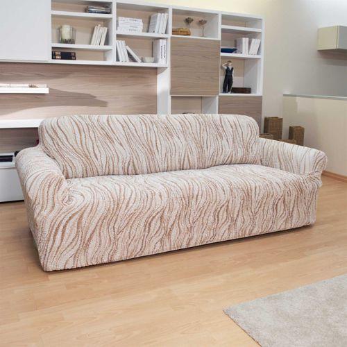 Gaico copridivano bielastico stampato fantasia onde qvc - Copri divano angolare ...