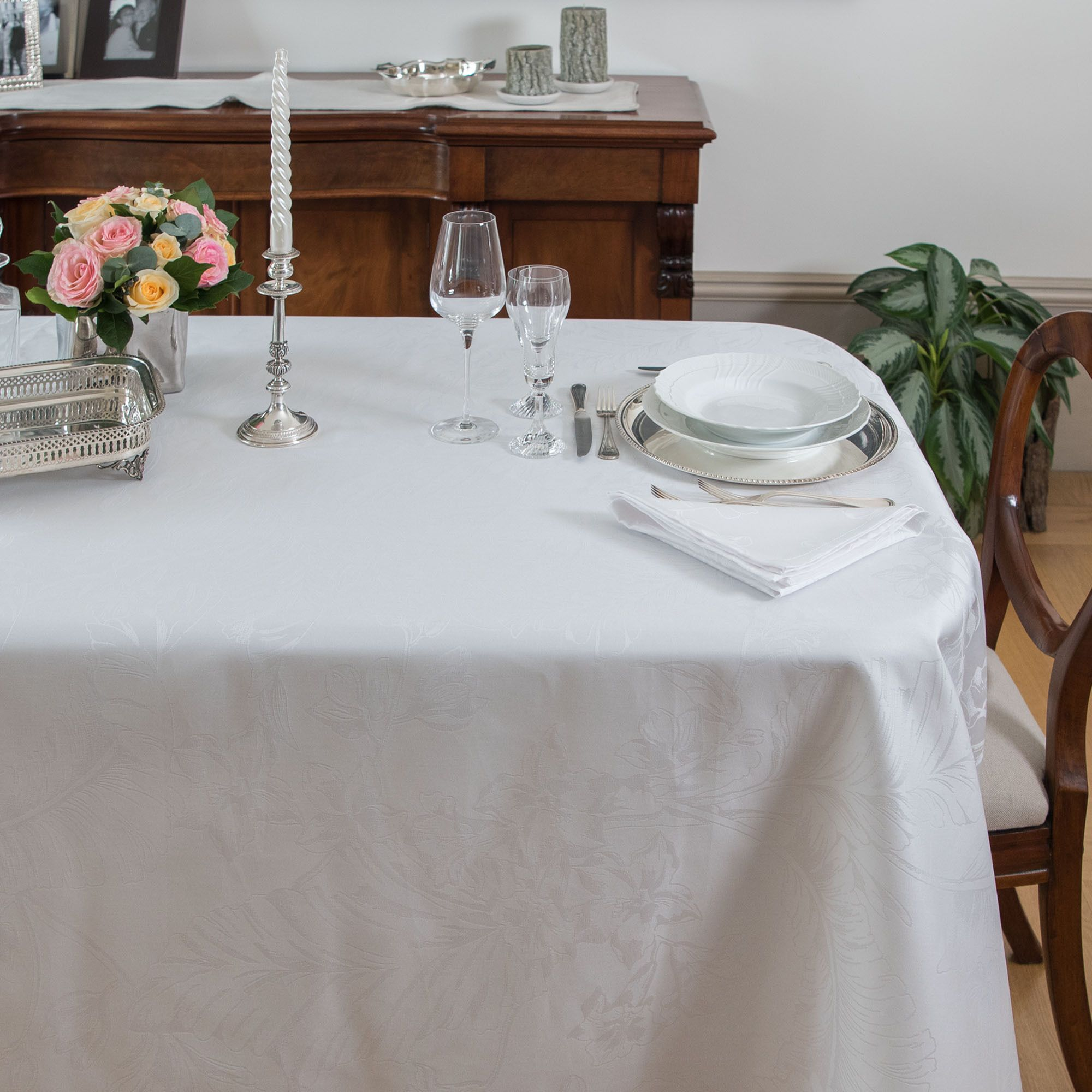 Tovaglia Da Tavola Moderna ferò tovaglia floreale in tessuto idrorepellente - qvc italia