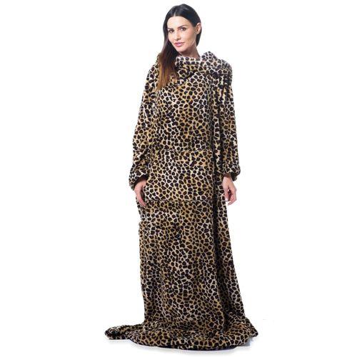 Coperta Con Le Maniche Leopardata.Slanket Indulgent L Originale Coperta Con Le Maniche Con 3 Tasche