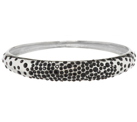 Stainless Steel Scattered Crystal Bangle