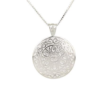 Sterling serenity prayer medallion pendant w18 chain page 1 sterling serenity prayer medallion pendant w18 chain aloadofball Images