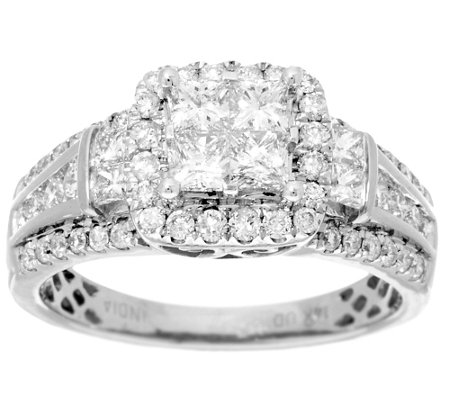 Halo Mosaic Diamond Ring, 14K, 1.40 cttw, by Affinity