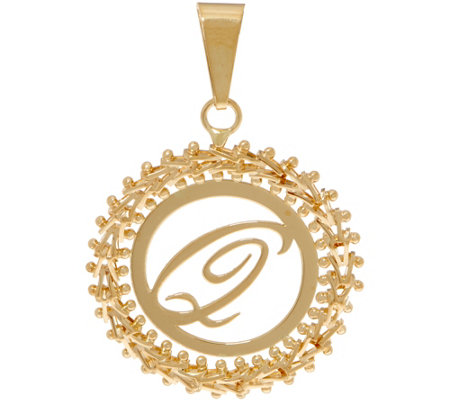 Imperial Gold Initial Pendant, 14K Gold