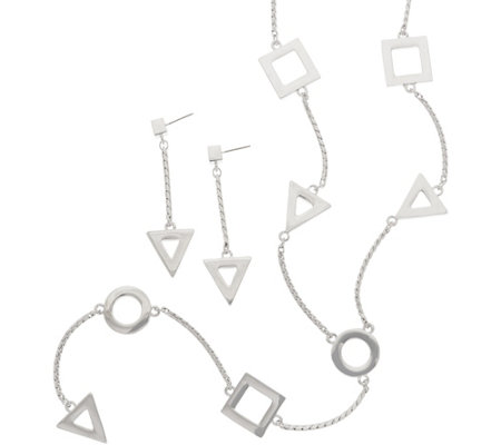 Linea by Louis Dell'Olio Geometric Necklace and Earring Set