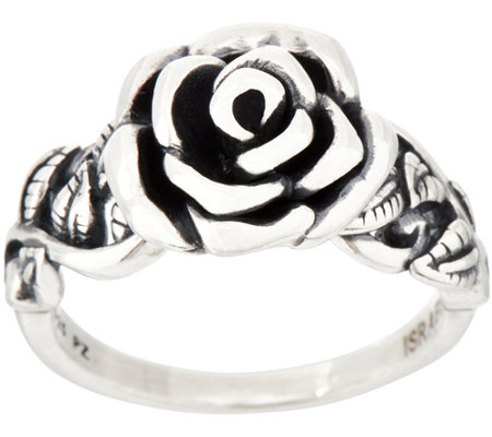 Or Paz Sterling Silver Rose Ring