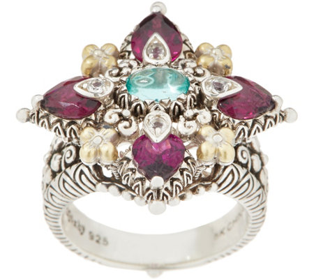 Barbara Bixby Sterling Silver & 18K Gold Gemstone Ring