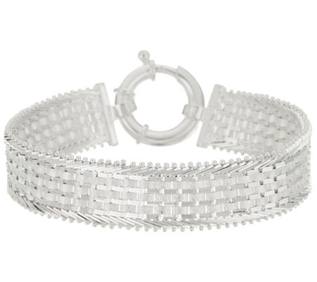 "Imperial Silver Wide Ultra Satin 8"" Bracelet, 23.4g"