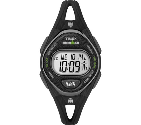 Timex Women S Ironman Sleek 50 Series Black Strap Watch