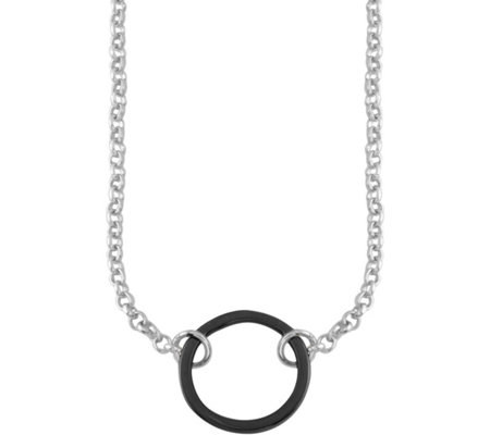 Sterling Circle Station Necklace by Silver Style